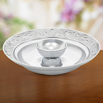 Opal Innocence Carved Chip 'n' Dip by Lenox