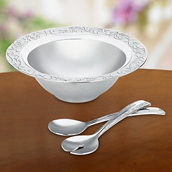 Opal Innocence Carved 3-piece Salad Set by Lenox