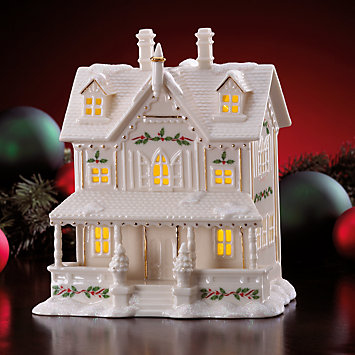 Lenox Village Lighted House Figurine