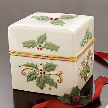 Holly Keepsake Box by Lenox