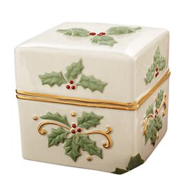 Holly Covered Keepsake Box