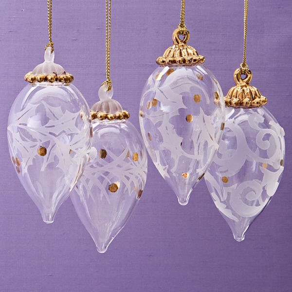 Holiday Lights 4-piece Ornament Set by Lenox