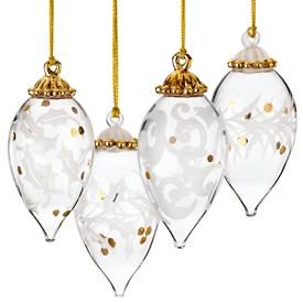 Holiday Lights 4-piece Ornament Set