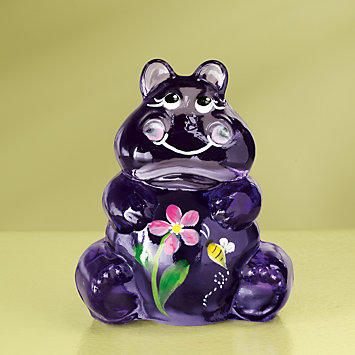 Fenton Hippo Art Glass Figurine