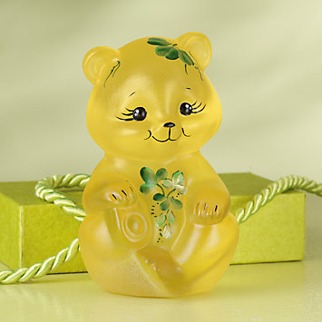 Fenton Buttercup Little Irish Bear Figurine