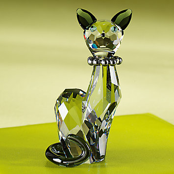 Swarovski Feline Crystal Art Glass Figurine
