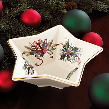 LENOX Dining: Holiday Dinnerware - Winter Greetings® Star Bowl