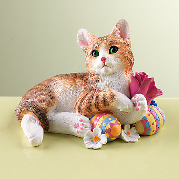 LENOX Figurines: Cats - Easter Kitty Figurine