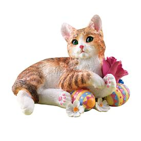 Easter Kitty Figurine