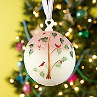 Fenton Christmas Ball Ornament by Lenox