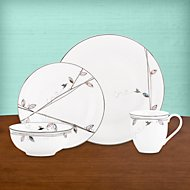 Silver Song 4-piece Dinnerware Place Setting with Mug by Lenox