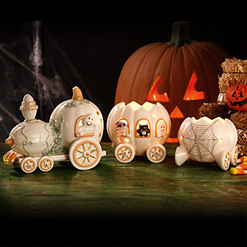 Halloween Harvest Train, Set of 3