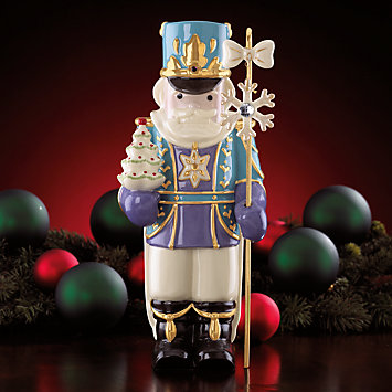 LENOX Figurines: Christmas - Nutcracker with Tree Figurine