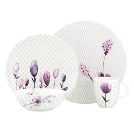 Watercolor Amethyst 4-piece Place Setting