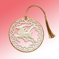 Pierced Reindeer Ornament by Lenox