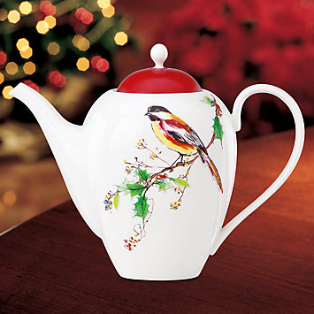 LENOX Dining: Holiday Dinnerware - Winter Song Hot Beverage Server