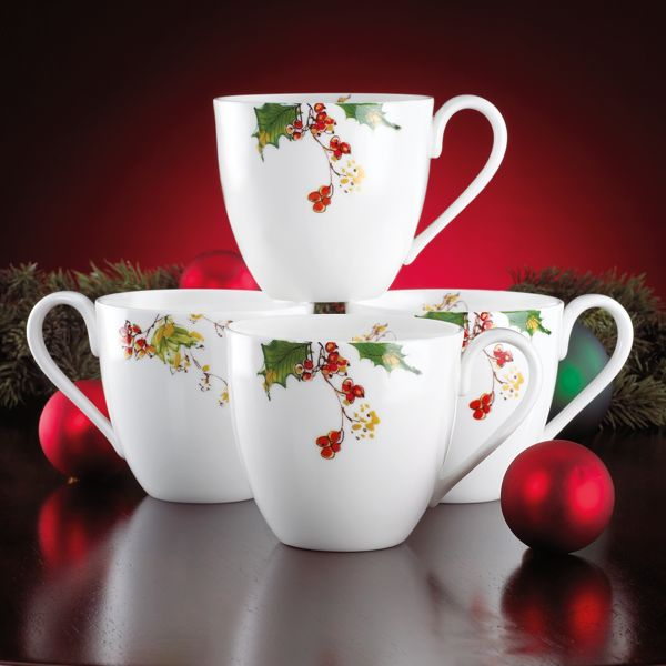Winter Song Café 4-piece Mug Set by Lenox