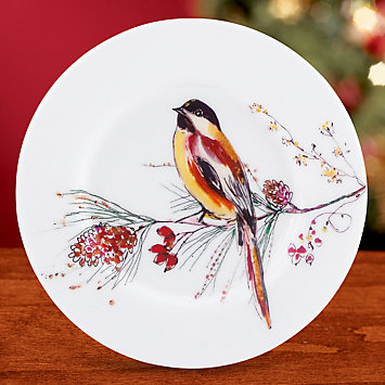 LENOX Dining: Holiday Dinnerware - Winter Song Party Plate