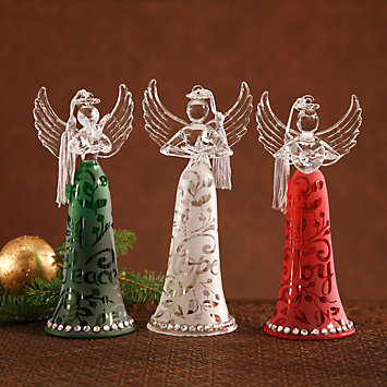 Joyous Tidings Angel 3-piece Ornament Set by Lenox