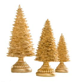 Gold Resin 3-piece Tree Set