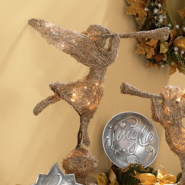 Lighted Large Trumpeting Angel Figurine by Lenox