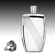 Stainless Rectangular Flask with Funnel by Gorham®