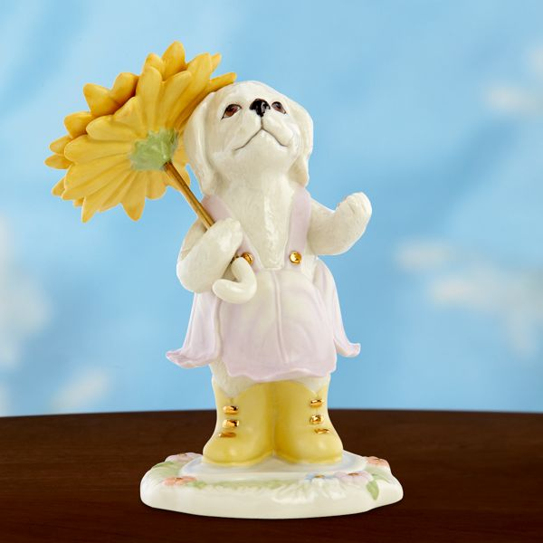 Doggin' in the Rain Figurine by Lenox