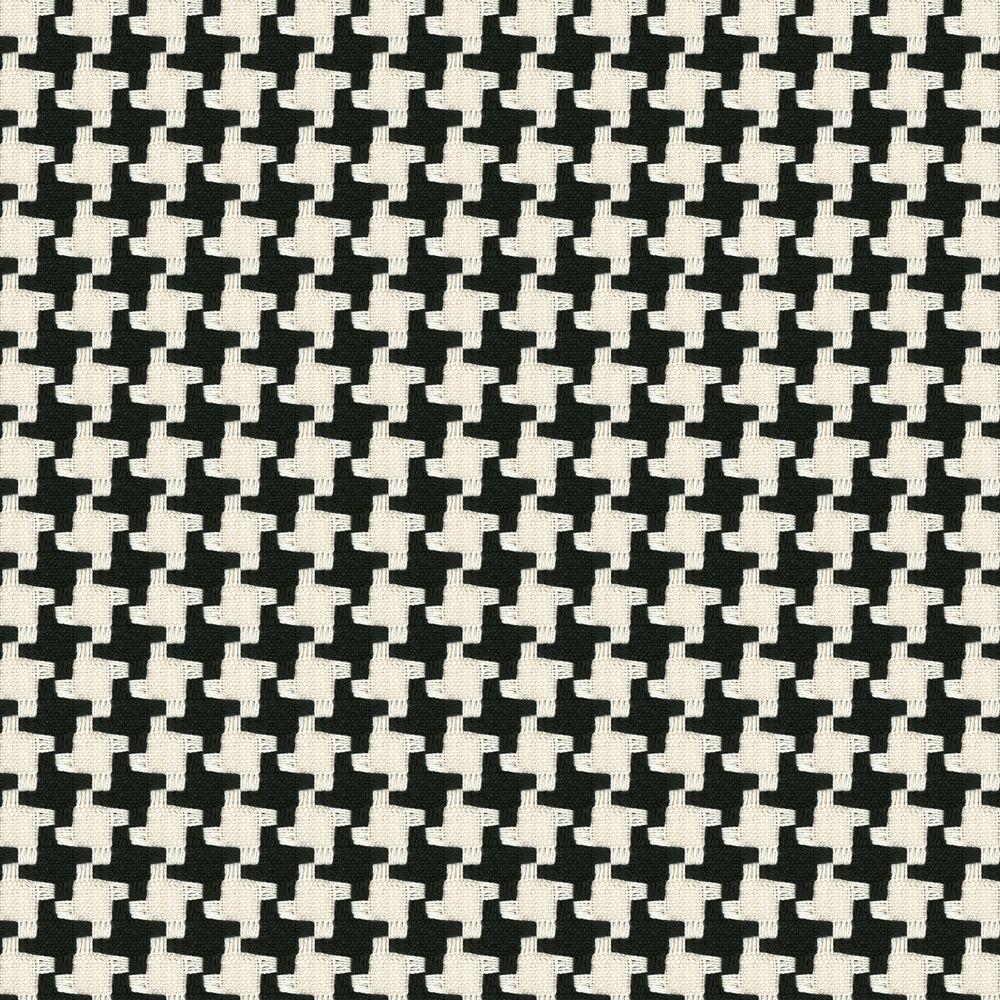 Black white knit houndstooth fabric great scott black for Black and white fabric
