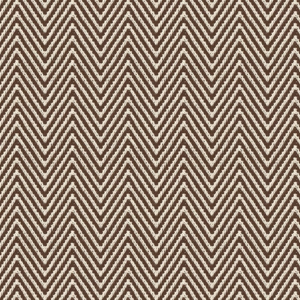 Brown Knit Chevron Fabric | Big Zig Brown | Loom Decor