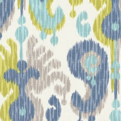 Aqua Blue Amp Green Ikat Fabric Indian Summer Stillwater