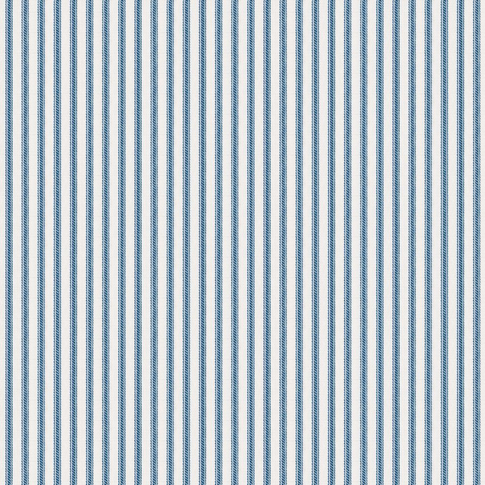 Blue ticking stripe fabric little white line blueberry for Ticking fabric