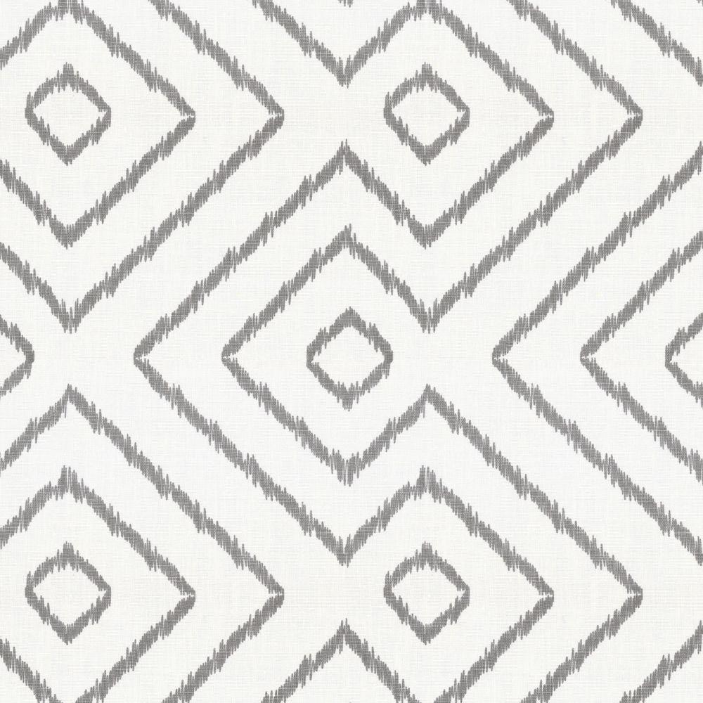 Maze white gray diamond fabric optrix ash loom decor for Black and white fabric