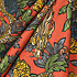 Red Chinoiserie Dragon Fabric Draped