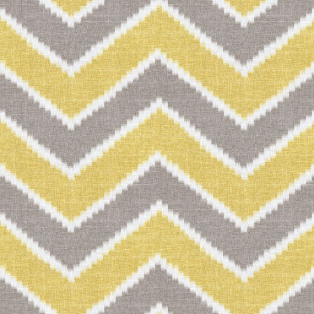 Hazy Gray Yellow Chevron Rise Fall Buttercup Loom Decor