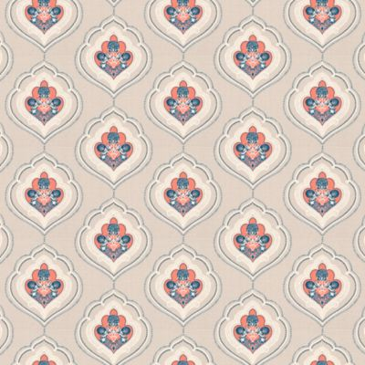 Coral Navy Curtains Coral Navy Indian Damask Motif. Coral Navy Indian  Damask Motif. Source Abuse Report