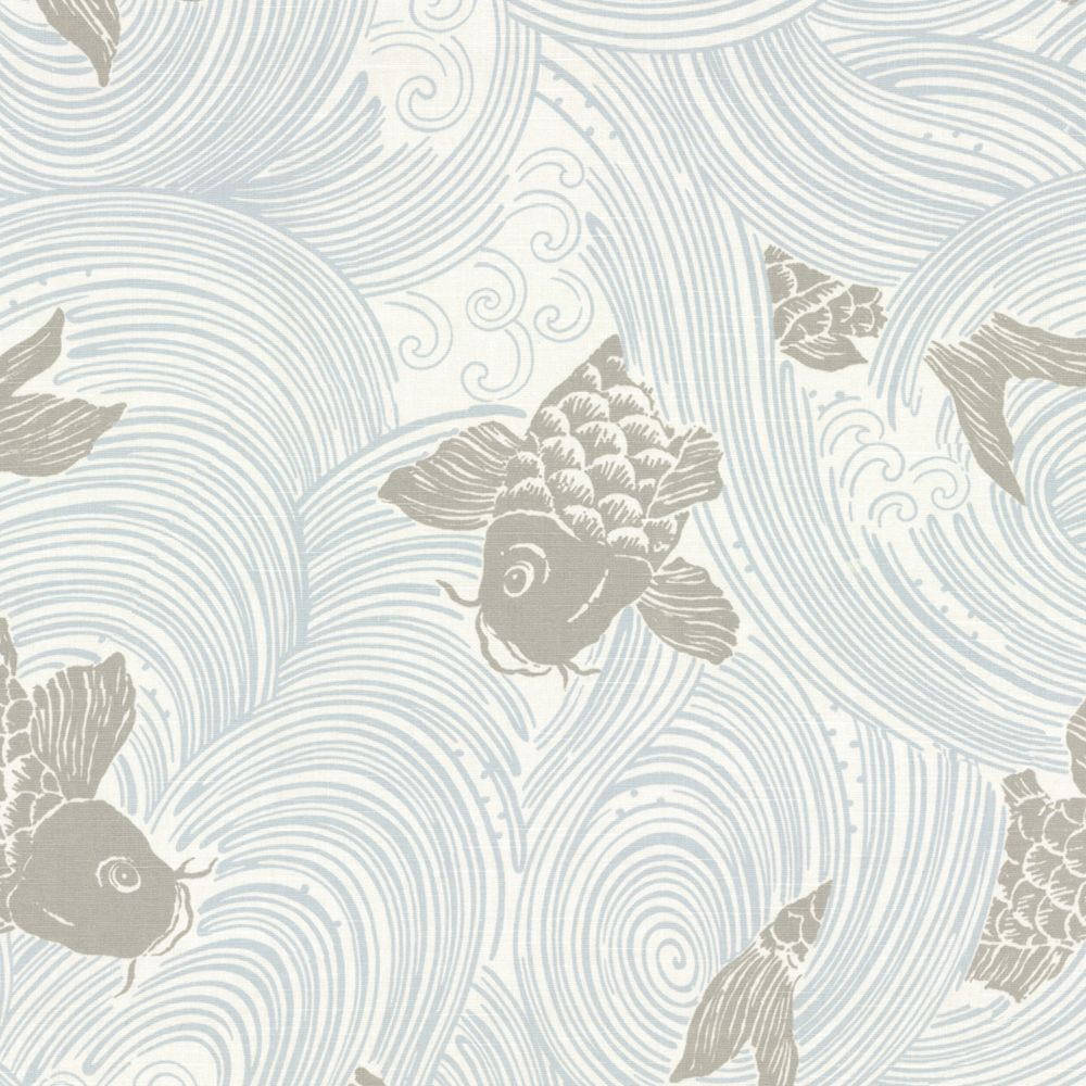 Gray koi fish fabric stream up mist loom decor for Grey koi fish