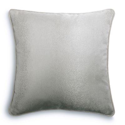 Metallic Silver Shagreen Euro Sham