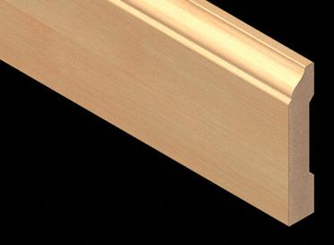 Horizontal Natural Bamboo Laminate Baseboard