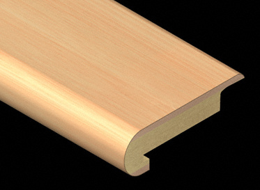 Horizontal Natural Bamboo Laminate Stair Nose