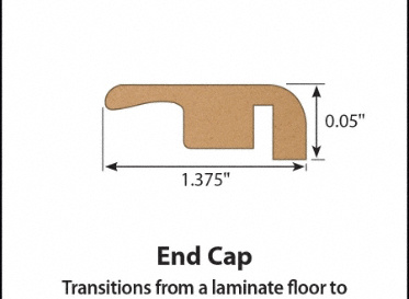 Buffalo Gap Hickory Laminate End Cap