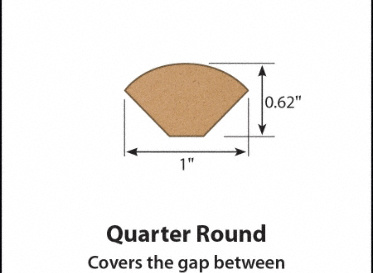 Coles Hill Chestnut Laminate Quarter Round