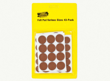 Felt Pads Various Sizes 43-Pack