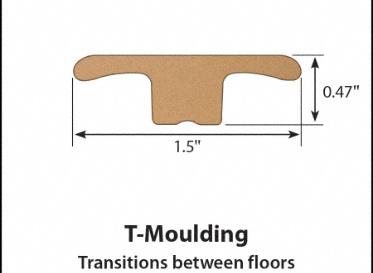 Gunstock Oak Laminate T-Molding
