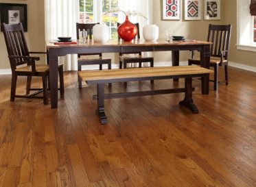 "Virginia Mill Works Rustic 3/4""x3 1/4"" Red Oak Quercus Rubra 1290 Stained Finish Solid"
