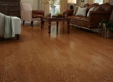 "Sch�n Quick Clic Engineered Natural 3/8""x4 3/4"" Red Oak Quercus Rubra Clear Finish Engineered"
