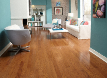 Sch�n  Natural Red Oak Quercus Rubra Clear Finish Engineered