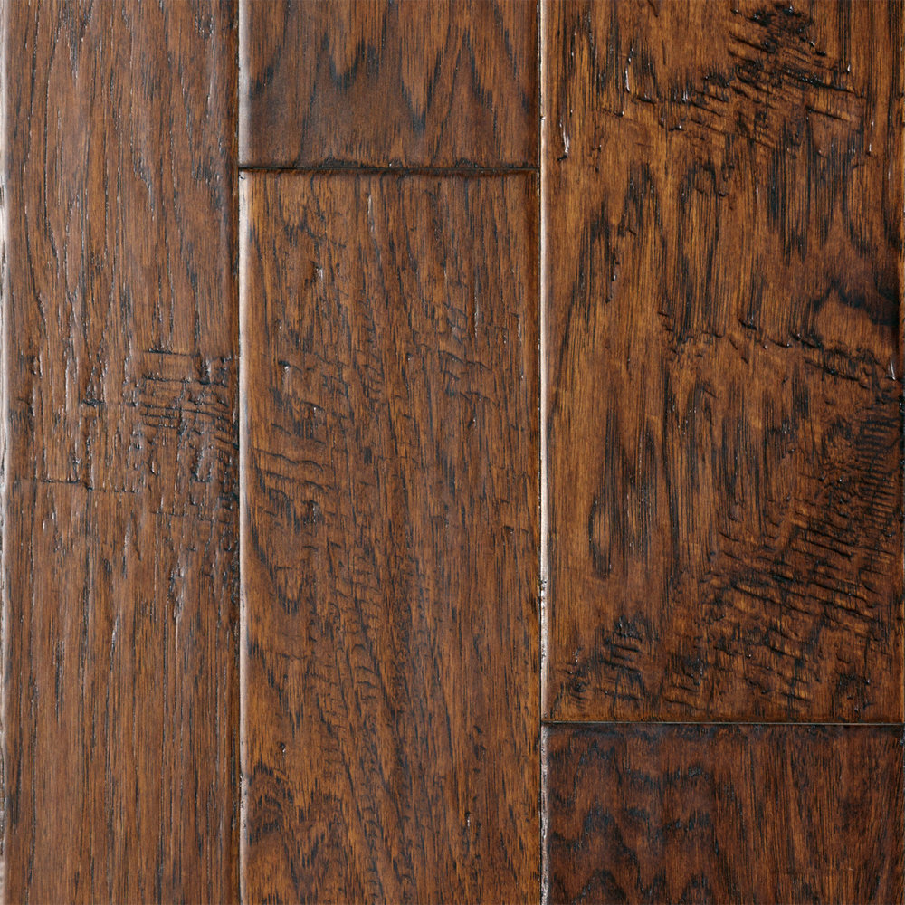 1 2 x 4 5 6 saddle creek hickory handscraped for Texas floors
