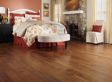 "Virginia Mill Works Natural 7/16""x4 3/4"" Hickory Carya Ovata Stained Finish Engineered"