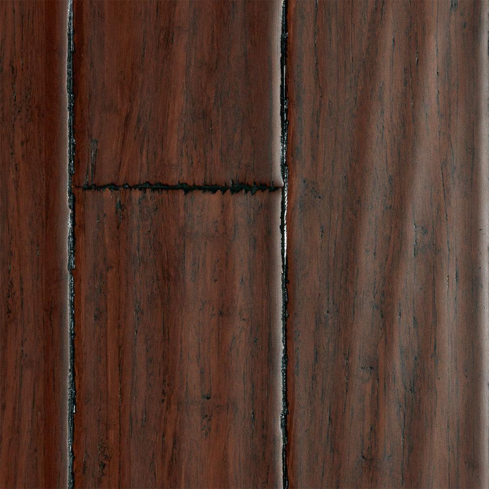 "Strand Bamboo Laminate Flooring: 3/8"" X 3-3/4"" Danyang Strand Handscraped Bamboo"