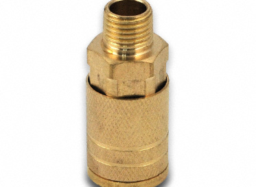 "1/4"" NPT Brass Quick-Connect Male Coupler"